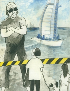 Illustration of Pablo Neruda's Poem, EL BARCO, 2011